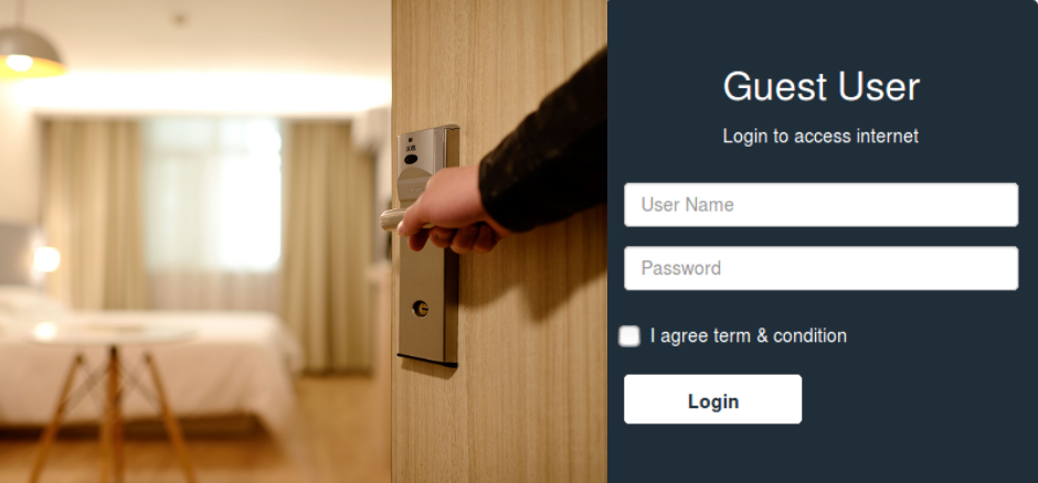 Guest Login Page